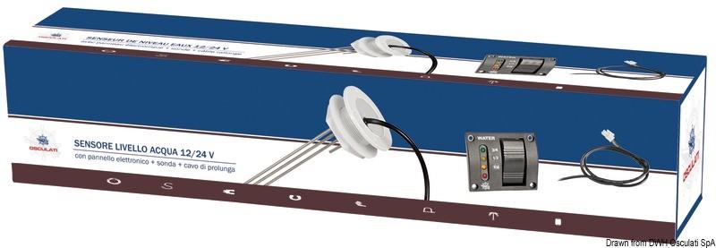Kit pannello+sonda indicatore livello acqua Osculati 52.648.00-5264800