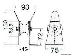 Musone di prua inox 45 mm