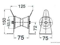 Musone di prua inox 89 mm