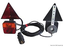 Kit luci posteriori fissaggio magnetico+triangoli