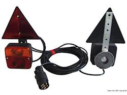 Kit luci LED fissaggio magnetico freccia dinamica