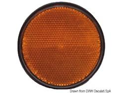Catarifrangente adesivo arancio 60 mm