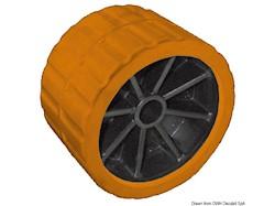 Rullo laterale arancio 75 mm Ø foro 15 mm