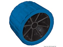 Rullo laterale blu 75 mm Ø foro 15 mm