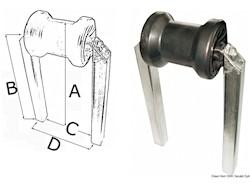 Rullo centrale piccolo tubo 30 x 30 mm