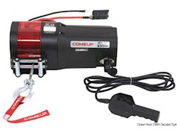 Arganello elettrico per alaggio imbarcazioni, tender di servizio, moto d'acqua o da applicare sui carrelli porta barche