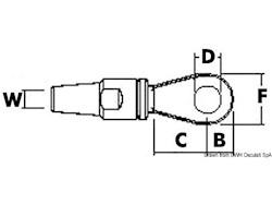 Terminale LEWMAR in acciaio inox 316 ad occhio