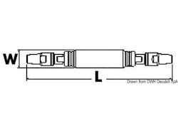 Isolatore LEWMAR Norseman per paterazzo