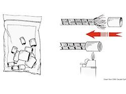 Terminali termoretraibili in plastica bianca per intestare le cime