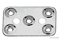 Piastrina fissa cinghie 62x40 mm
