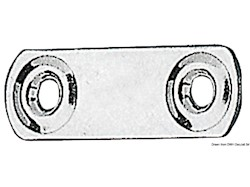 Piastrina fissa cinghie 50x16 mm