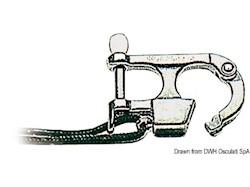 Moschettone in acciaio inox per sci nautico, conforme norme Ri.Na con dichiarazione 165/06/DIP del 18/04/1988