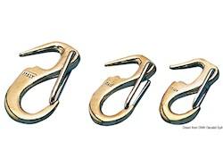 Moschettone in bronzo per fiocco