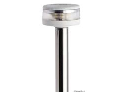 Asta luminosa completa di fanale Evoled 360° - Versione estraibile con basetta in nylon/acciaio inox lucidato