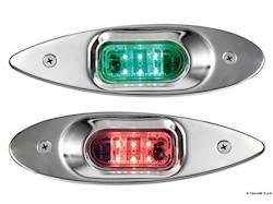 Luci di via Evoled Eye a LED a basso consumo in acciaio inox lucidato a specchio per fissaggio ad incasso a murata