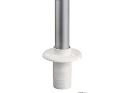 Asta Classic estraibile in alluminio con fanale di prua