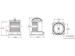 Luci di navigazione per scafi fino a 50 m DHR con omologazione MED 2014/90/EU