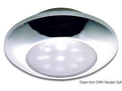 Plafoniera stagna LED cromata