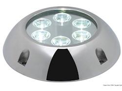 Faro subacqueo 6 LED bianchi, con vite