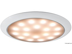 Plafoniera LED senza incasso Day/Night bianca/inox