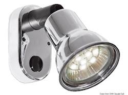 Applique ABS cromata LED a snodo
