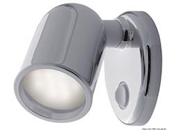 Applique Tube 10 LED ABS cromato