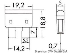Fusibili lamellari standard con LED spia