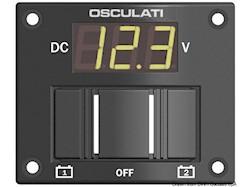 Pannellino tester digitale per 2 batterie IP56