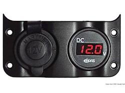 Voltometro 3/30 V + presa corrente