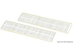Numeri e lettere autoadesive neri su fondo bianco da 3 mm