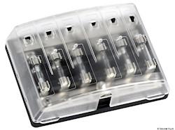 Scatola portafusibili in vetro