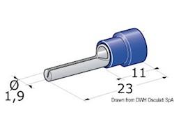 Spinotto giunzione maschio 1-2,5 mm²