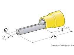 Spinotto giunzione maschio 2,5-6 mm²