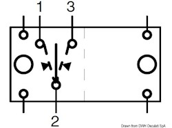 Interruttore (ON)-OFF-(ON) 2 lampadine 12 V