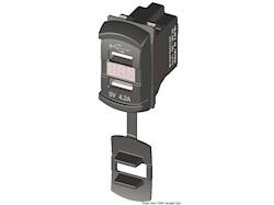 Presa corrente con USB e voltmetro