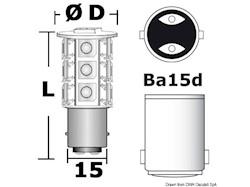 Lampadina LED SMD zoccolo BA15D per faretti