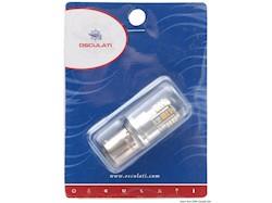 Lampadina LED SMD zoccolo BA15D per faretti con copertura in vetro dei LED