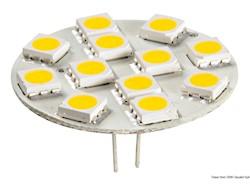 Lampadina 12 LED G4 Ø 30 mm attacco posteriore