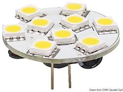 Lampadina LED SMD G4 12/24 V attacco posteriore