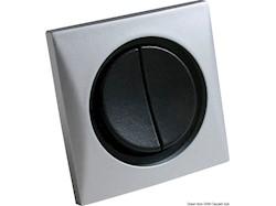 Interruttore doppio nichel/nero