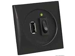 Presa USB nera 5 V