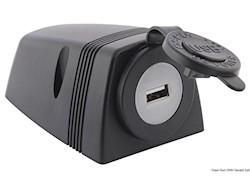 Presa USB con carenatura per fissaggio su piano
