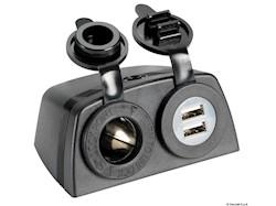 Presa accendisigari + doppia USB con carenatura