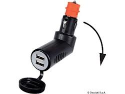 Adattatore presa corrente snodato con doppia USB