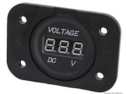 Voltometro/Amperometro digitale e prese corrente con montaggio ad incasso