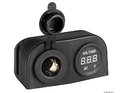 Voltmetro digitale e presa corrente