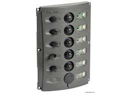 Pannello elettrico fusibili automatici doppio LED