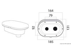 Box doccia Oval con miscelatore e doccia a pulsante Mizar