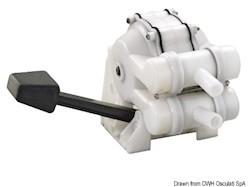 Pompa a pedale per lavello a doppio effetto