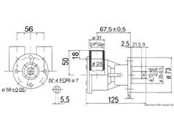 Pompa tipo NAUCO FPR043, flangiata